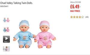Chad Valley Talking Twin dolls set £6.49 @ Argos