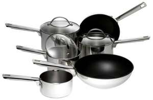 Meyer Professional Stainless Steel Pan Set, RRP:£240.00 now £80.72 @ Amazon