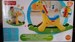 Fisher Price rockin tunes giraffe. At smyths instore £20.