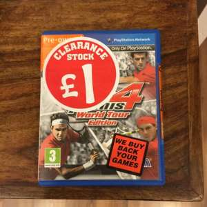 Virtua Tennis 4 (PS Vita) £1 @ Smyths