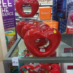 Heart shaped Oil Burners £1 @ Wilko in store
