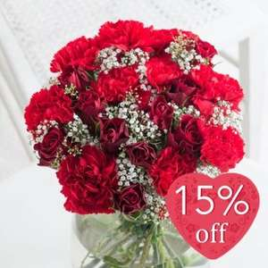 Flying Flowers Valentine's Bouquets 15% Off £18.69