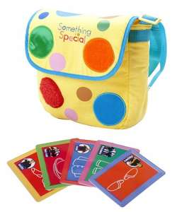 something special mr tumble textured spotty bag £5.00 @ Amazon (free del prime or add £3.30 delivery).  Also £5 @ Smyths Toys.