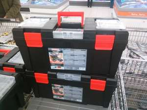 Large toolbox, with various compartments for £9.99 @ Lidl