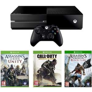 XBOX ONE - Assassin's Creed: Unity, Assassin's Creed: Black Flag and Call of Duty: Advanced Warfare £339.99 delivered at Amazon