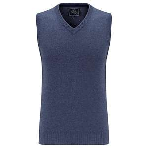 John Lewis Merino Cashmere Mens Tank Top Airforce Blue £20.00