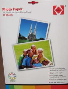 A4 Glossy Photo Paper 15 sheets Only 79p @ Home Bargains Instore