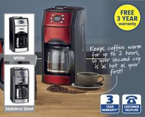 Coffee Maker with Grinder @ Aldi £39.99