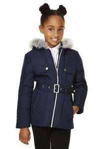 Girls School Coat Age 3-4 £5 free c+c F&F Tesco
