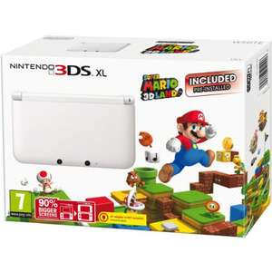 White Nintendo 3DS XL with Super Mario 3D Land £99 @ Tesco Direct