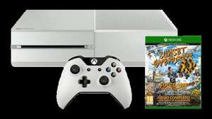 Xbox One White Sunset overdrive bundle + a free £20 store voucher + Another free game including GTA 5 / Fifa 15 Just £299.99 at the Microsoft store! (makes the console around £245)