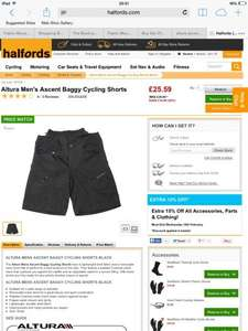 Altura Men's Ascent Baggy MTB Cycling Shorts £21.75 at halfords )plus quidco (free click n collect in store or free over £30 spend) (£37.99 on Evans cycles)