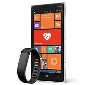 Lumia 830 Sim free With O2 - 500mins / 500MB data on 4G / 24 month contract with FREE Fitbit Flex wristband £18 / month  with a total over 2 years of £432 @ Amazon