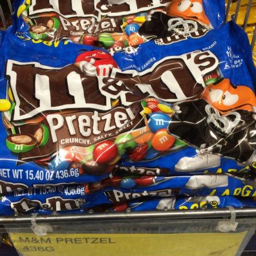 M&M Pretzel big bag 436.6g £2.99 at B&M stores