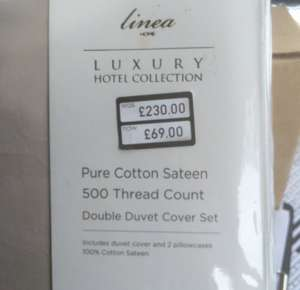 70% off Linea luxury bedding £69 House of Fraser