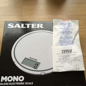 Salter MONO Glass Electric Scale 1080 £6.25 @ Tesco in store (walsall)