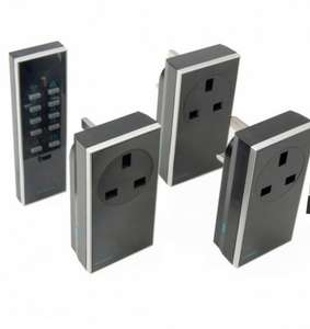 Siemens (LightwaveRF) Black Unswitched & Dimmable 13A Remote Control Socket, Pack of 3 - £18.00 @ B&Q