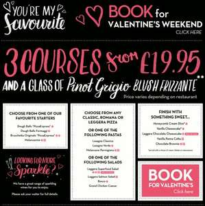 Amazing valentines offer - £19.95 for 3-course dinner @ Pizza Express