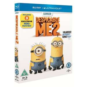 Despicable Me 2 (With UltraViolet) (Blu-ray) incudes 3 Mini(on)Movies: Puppy, Panic in the Mailroom, Training Wheels £4.49 delivered @ Zoverstocks / Play