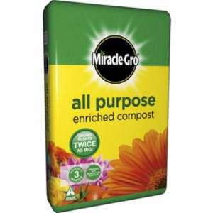 Miracle-Gro All Purpose Compost - 50L £4.25 @ Homebase instore