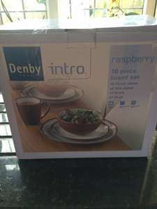 Denby intro dinner set 16 pieces £27.00. Reduced from £90.00 colour Rasberry.