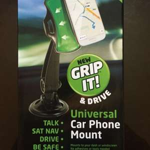 Grip it & Drive Universal Car Phone Mount (similar to JML) £1 @ Poundworld
