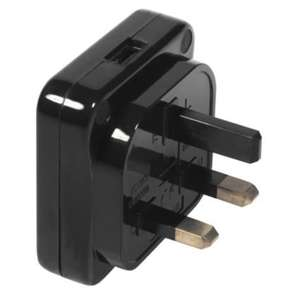 Masterplug Black 240 V 13A 240V USB Charger - £1.98 B&Q collect in store
