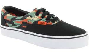 Vans Era Kids Shoes - (Camo) Black/True White £10 + £1.95 delivery @ skate hut