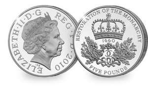 New 2010 Restoration of the Monarchy £5 Coin for £5 (+2.99 P&P) - Westminster Collection / Change Checker Exclusive