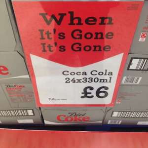 24 Cans of Coke/Diet Coke in-store £6 at Morrisons & Asda