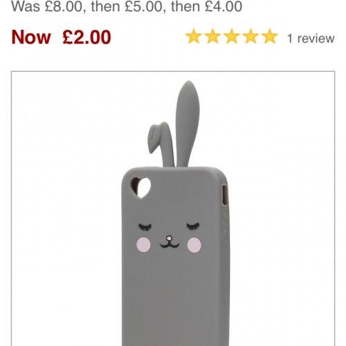 John lewis iphone bunny case £2 Free Click N Collect @ John Lewis