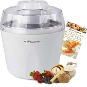 Excellent Ice Cream maker £19.99  + £7.99 shipping (£27.98) @ Amazon  sold by Andrew James UK LTD.