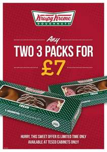 Krispy kreme doughnuts Any two 3 packs for £7 @ Tesco instore