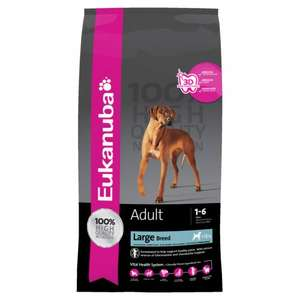 Eukanuba Large Breed Chicken Dry Dog Food - 15kg £29.99 or 2 for £57.98 + free delivery @ Petshop