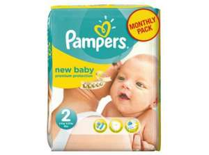 ** Pampers New Baby Size 2 Monthly Pack - 240 Nappies now £20 @ Tesco Direct **