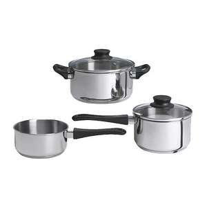 ANNONS 5-piece cookware set, glass, stainless steel £5 @ IKEA