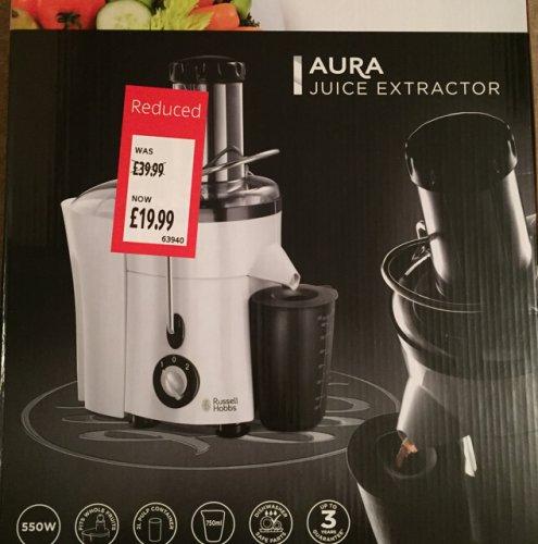 Russell Hobbs Aura Juice Extractor - Aldi £19.99