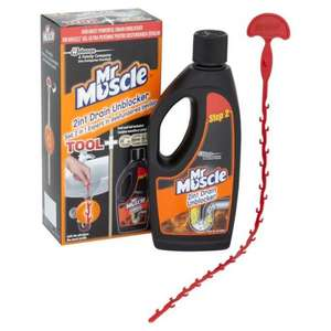 Mr Muscle 2-in-1 Sink and Drain Unblocker 500ml £1.25 in store @ Asda