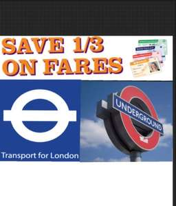 SAVE 1/3 on Off-Peak Travel in London ( inc Underground, DLR) with Railcard