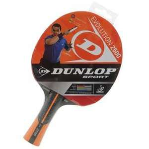 Dunlop evolution 2500 table tennis bat-70% off £11.99 @ SportsDirect ( £3.99 delivery/c&c )