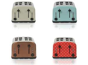 ** George Home 4 Slice Toaster With Extra Long Slots (Putty/Aqua/Copper/Polka) now £18 @ George **