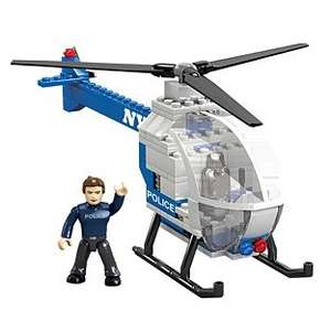 Mega Bloks World Builders NYPD Police Chopper £2.99 down from £9.99 Argos