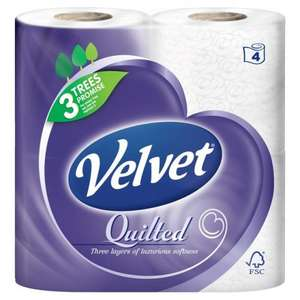 Quilted Velvet 10 x4 Pack Toilet Rolls (40 Rolls) £9.58 With Vat @ Costco From 23/02/15