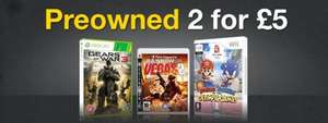 Preowned 2 for £5 (PS3/X360/Wii/Blu ray) @ Game