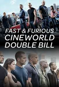 Fast & Furious 6/7 Double Bill - Cineworld 4DX £4.73 - Milton Keynes only
