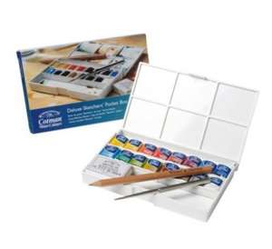 Winsor & Newton Cotman Deluxe Sketchers Pocket Watercolour Paint Box £6.19 (RRP £32.75) - Tesco Free Click and Collect