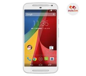 "Moto G 2nd Generation 5"" Dual Sim Mobile White - £131.89 @ Pixmania"