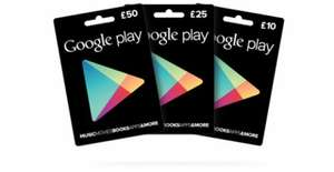 10% off Google Play Gift Cards @ TESCO instore