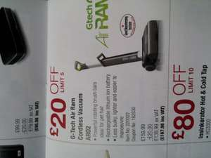 G-Tech Air Ram AR02 cordless vacuum £167.98 inc. VAT at Costco