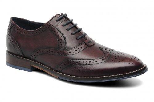 Hush Puppies - Dark Red Leather Brogue Shoes £56 @ Sarenza
